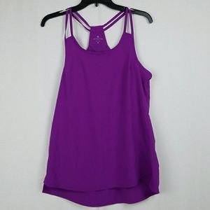 ATHLETA GO TIME TANK IN GRAPE JAM SIZE MEDIUM
